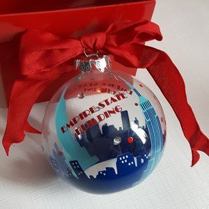 Empire state building Buld ornament with bow